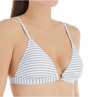 Swim Systems Maritime Stripe Sirena Triangle Bikini Swim Top