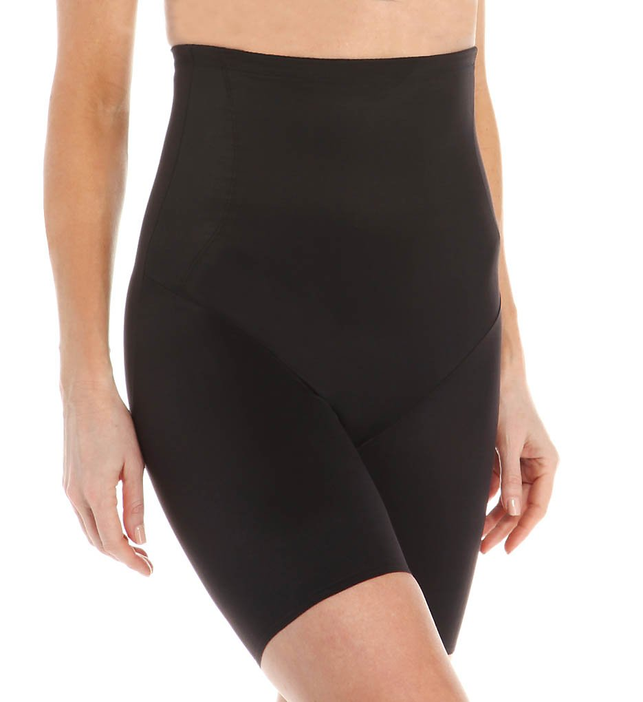 TC Fine Intimates : TC Fine Intimates 4099 Shape Away Hi-Waist Thigh Slimmer with Back Magic (Black S)