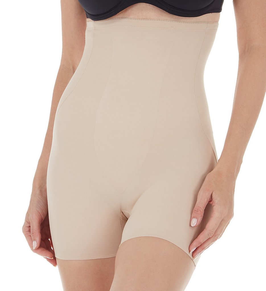TC Fine Intimates - TC Fine Intimates 4136 Just Enough Hi-Waist Boy Short (Nude L)