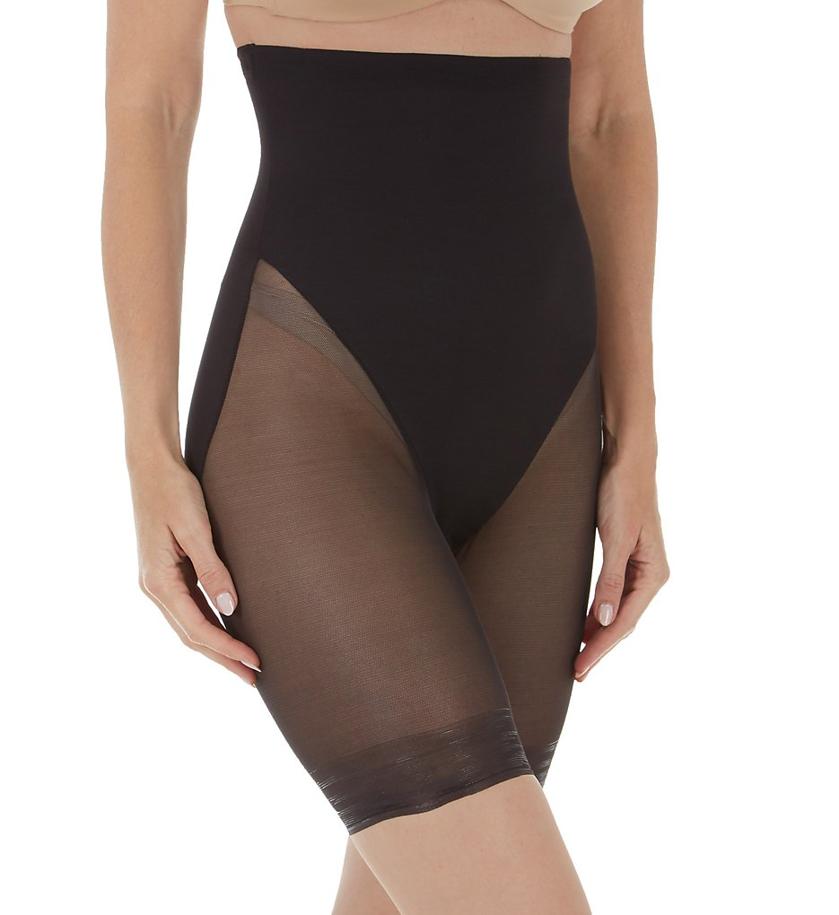 TC Fine Intimates : TC Fine Intimates 4229 Sheer Shaping & Comfort Hi-Waist Thigh Slimmer (Black S)