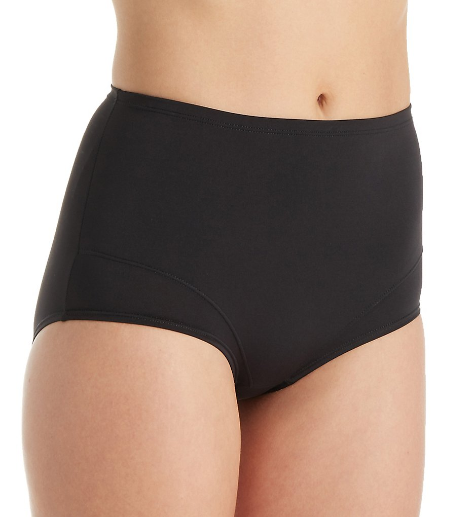 TC Fine Intimates : TC Fine Intimates 4265 Everyday Wear Waistline Brief with Tummy Panel (Black L)