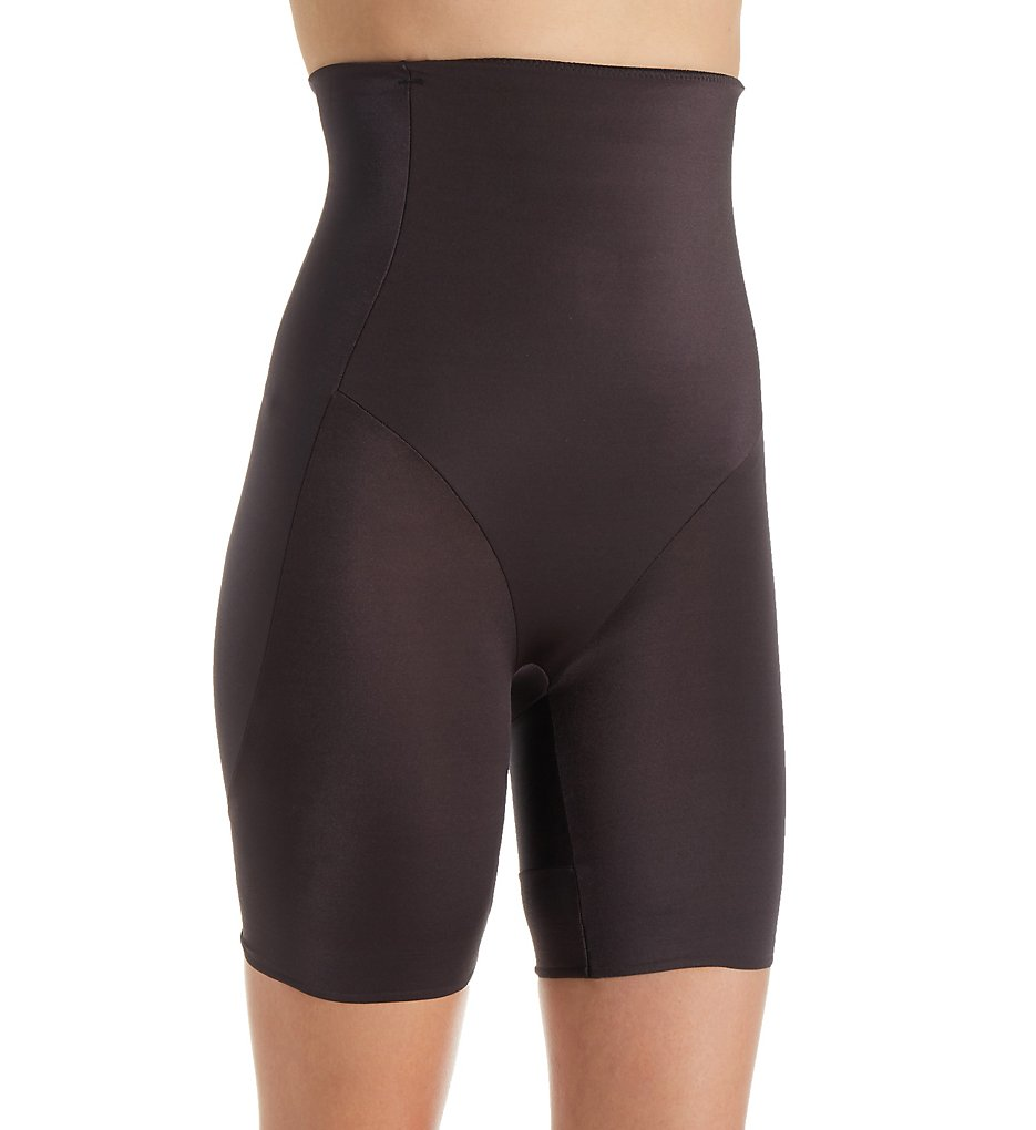 TC Fine Intimates : TC Fine Intimates 4329 Boost & Reduce Hi-Waist Rear Lift Thigh Slimmer (Black L)