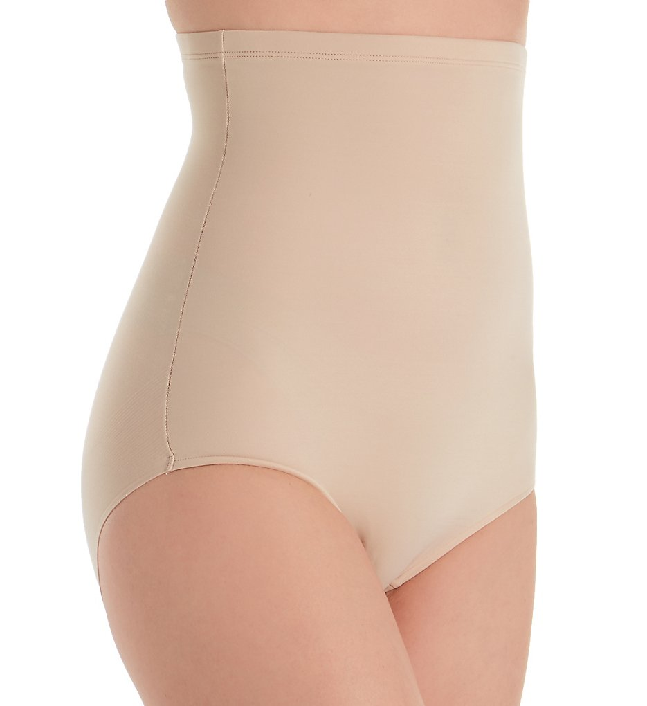 TC Fine Intimates - TC Fine Intimates 4755 Girl Power Hi Waist Brief (Nude S)