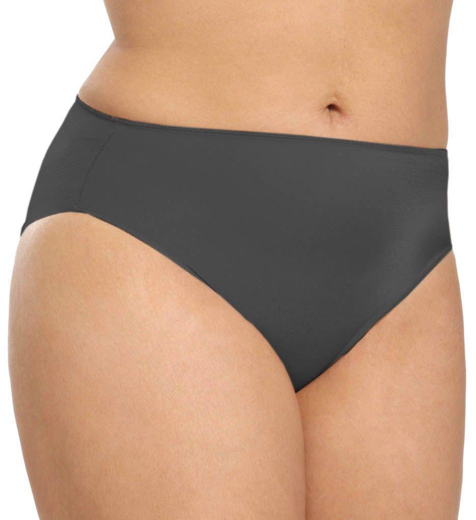 TC Fine Intimates Microfiber Wonderful Edge Hi-Cut Brief Plus Panty