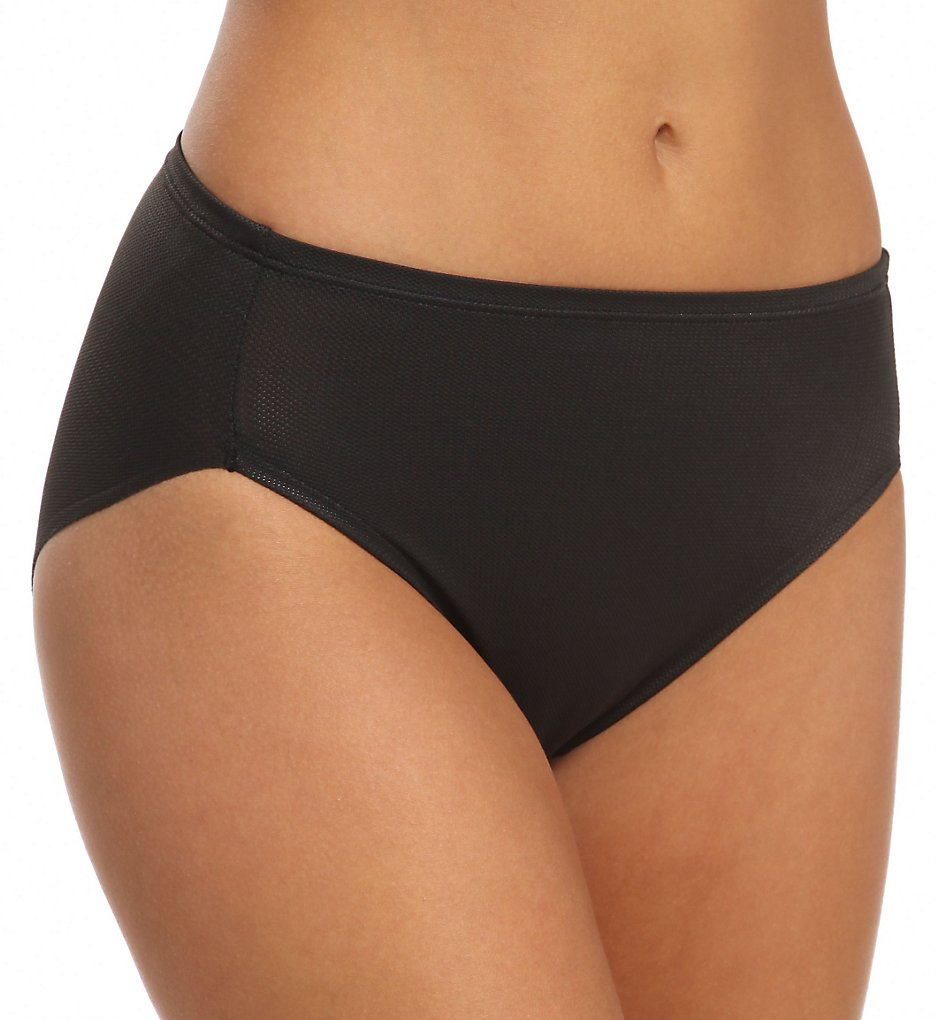 TC Fine Intimates : TC Fine Intimates A4-084 Winning Edge Sport Hi-Cut Panty (Black S)