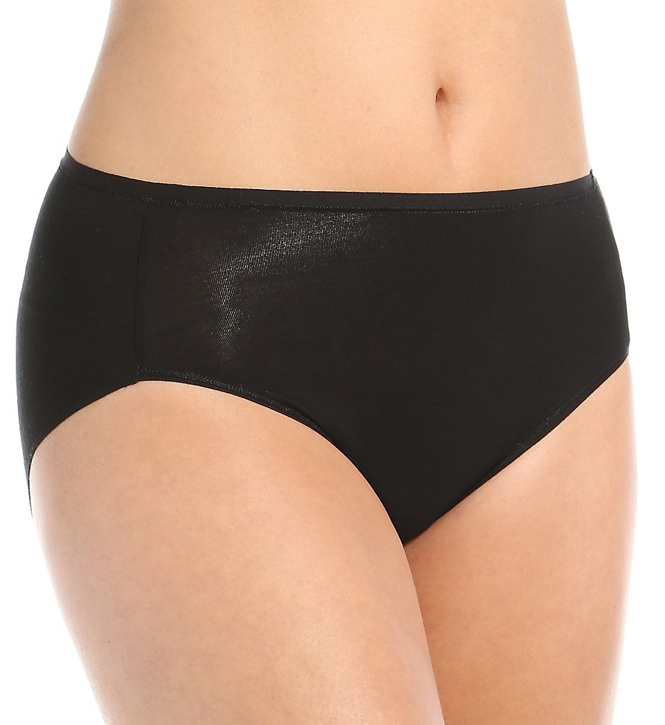 TC Fine Intimates : TC Fine Intimates A4-104 Comfort Modal Wonderful Edge Hi-Cut Panty (Black M)