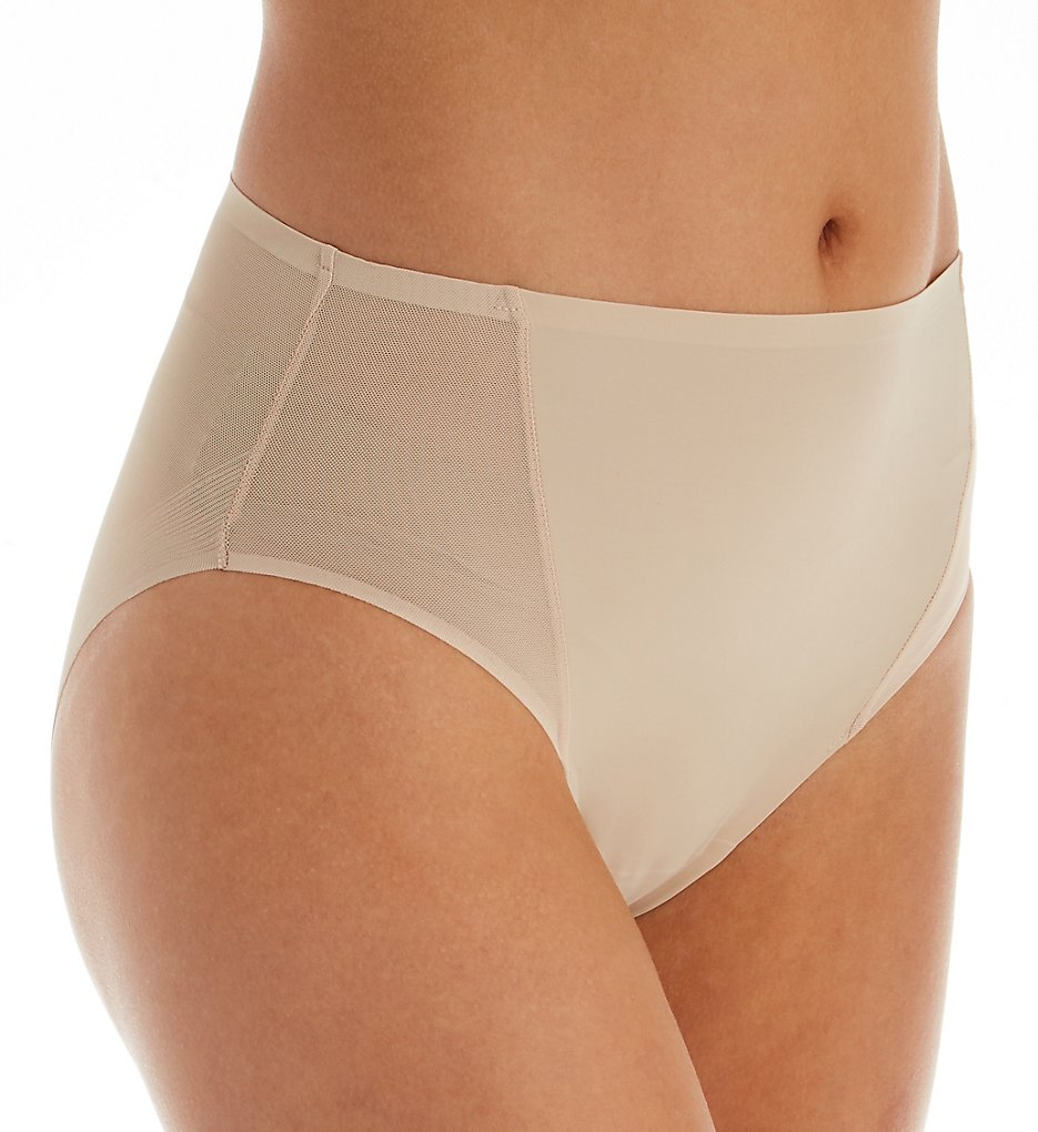 TC Fine Intimates - TC Fine Intimates A4-124 Wonderful Edge Micro Mesh Hi-Cut Panty (Nude S)