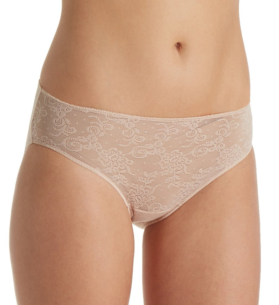 TC Fine Intimates : TC Fine Intimates A4-193 All Over Lace Hipster Panty (Nude L)