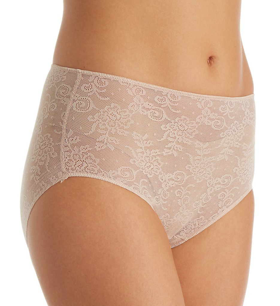 TC Fine Intimates : TC Fine Intimates A4-195 All Over Lace Brief Panty (Nude L)