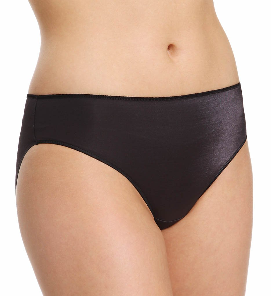 TC Fine Intimates : TC Fine Intimates A403 Microfiber Wonderful Edge Hipster Panty (Black L)