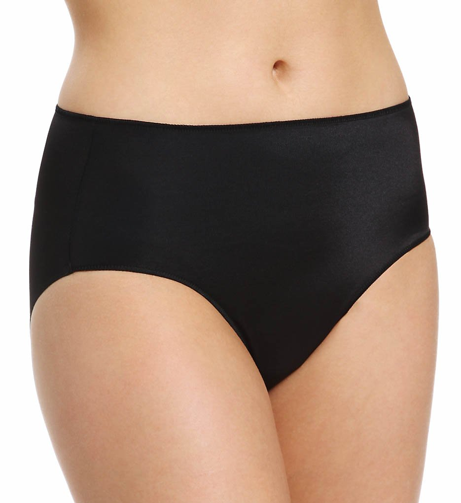 TC Fine Intimates : TC Fine Intimates A405 Microfiber Wonderful Edge Brief Panty (Black 2X)