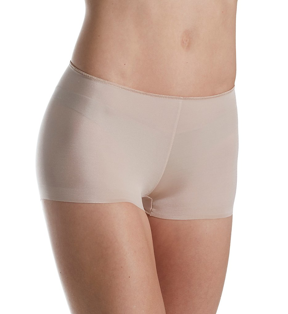 TC Fine Intimates : TC Fine Intimates A406 Microfiber Wonderful Edge Boyshort Panty (Nude XL)