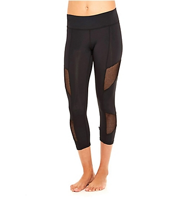 Terez Fishnet Tall Band Crop Ankle Legging