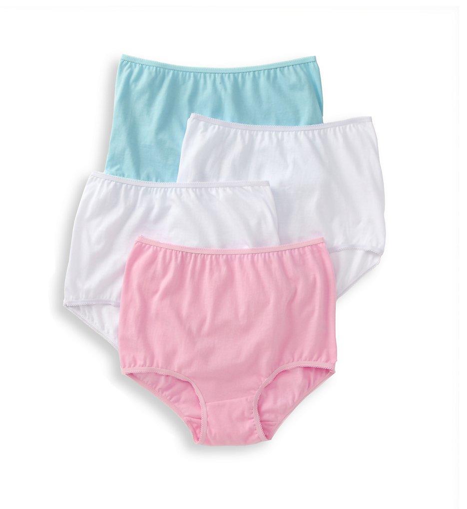 Teri 122 Cotton Full Cut Brief Panties - 4 Pack (Assorted)