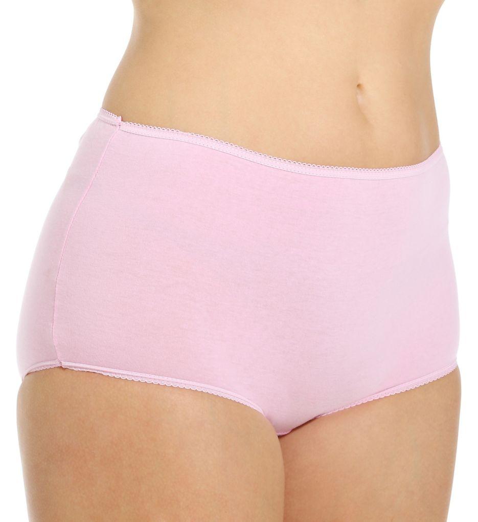 Teri Cotton Full Cut Brief Panties - 4 Pack