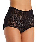 Lace Full Cut Brief Panties - 3 Pack