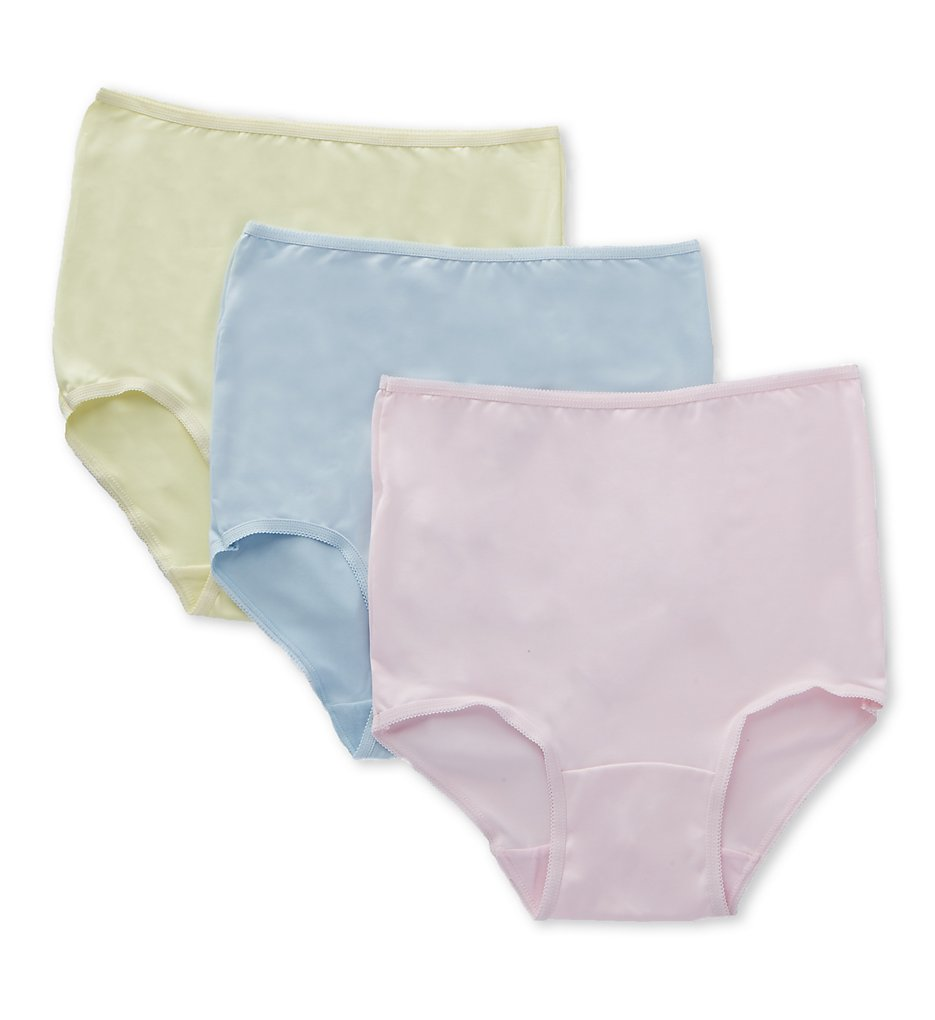 Teri - Teri 310 Microfiber Full Cut Brief Panty - 3 Pack (Pastels 5-7)