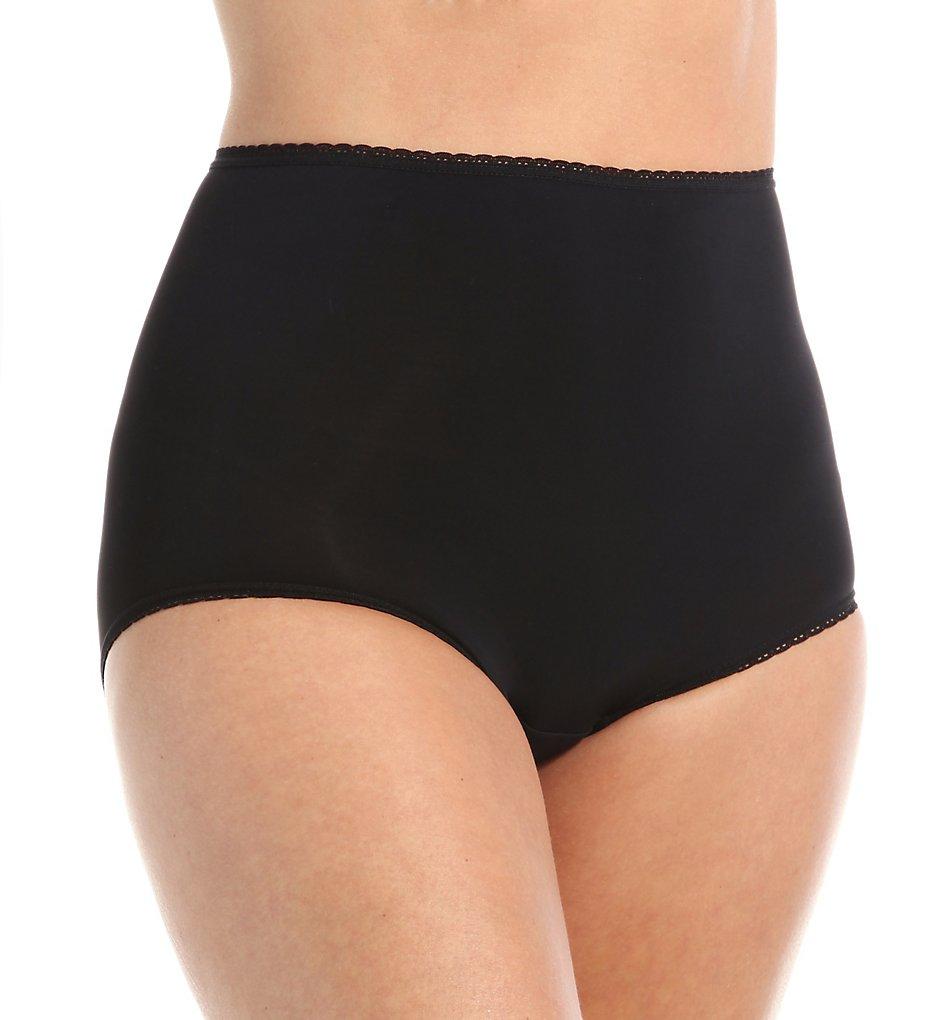 Teri 311 Marlene D Full Coverage Microfiber Panty (Black)