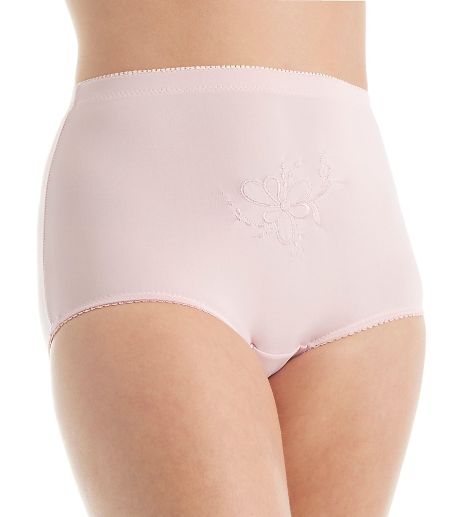 Teri - Teri 385 Rose Brief With Embroidered Pattern Panty (Misty Pink 6)