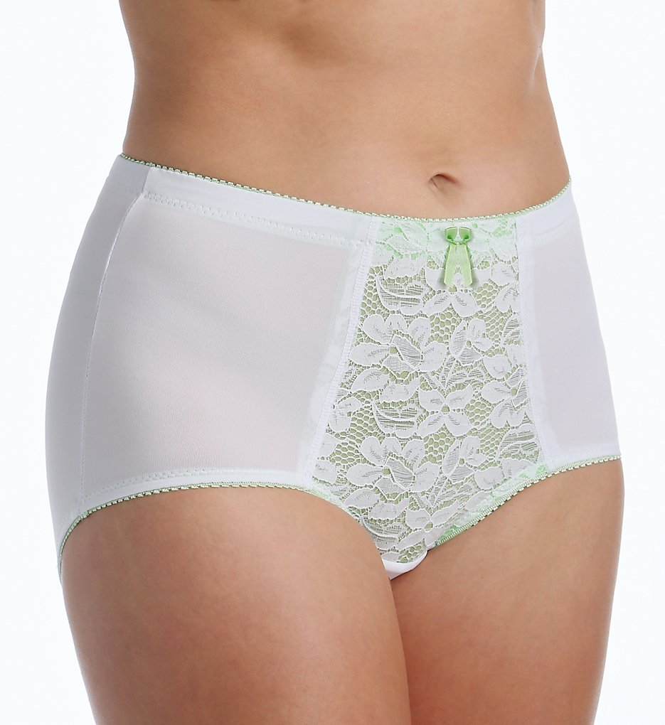 Teri - Teri 755 Peaches and Cream Microfiber Brief Panty (Mint M)