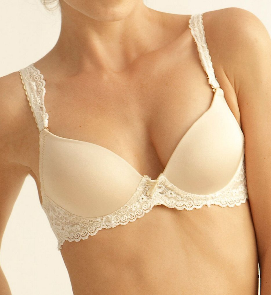 The Little Bra Company - The Little Bra Company E001 Yvonne Petite Molded Contour Push-Up Bra (Nude/Vanilla 28A)