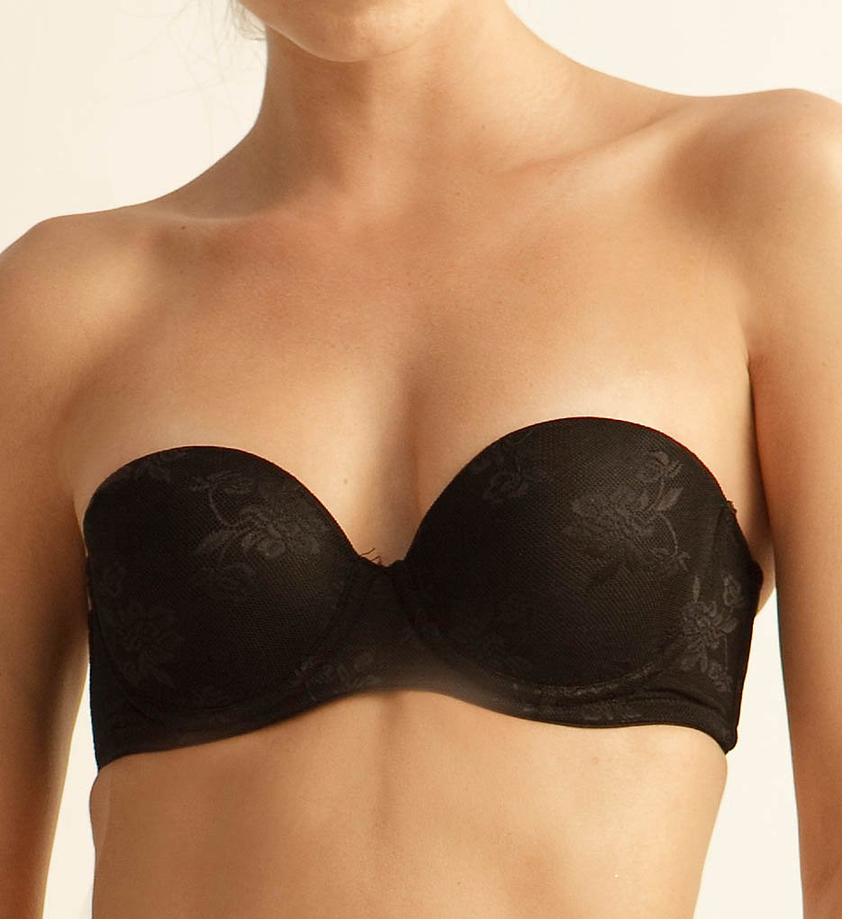The Little Bra Company >> The Little Bra Company F001 Sascha Petite Strapless Bra (Black Lace 28A)