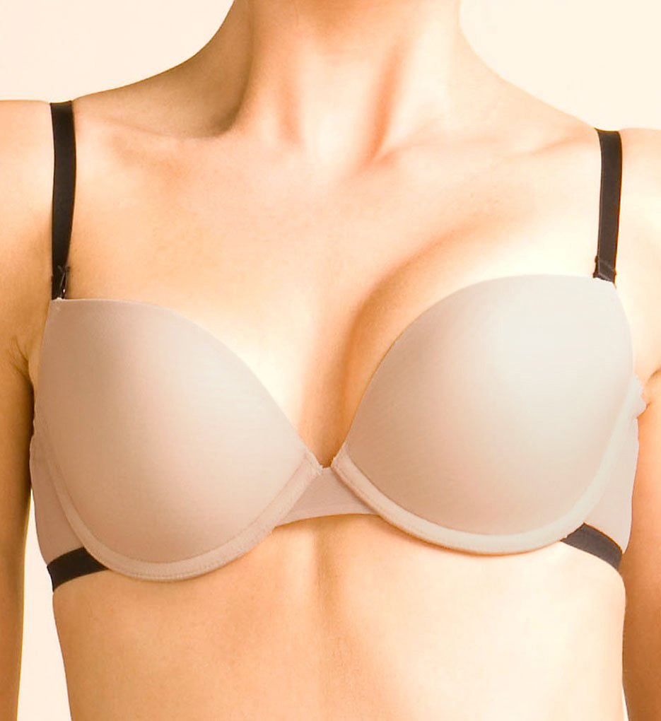 The Little Bra Company - The Little Bra Company F008JP Julia Petite Convertible T-Shirt Bra (Nude/Black 36A)