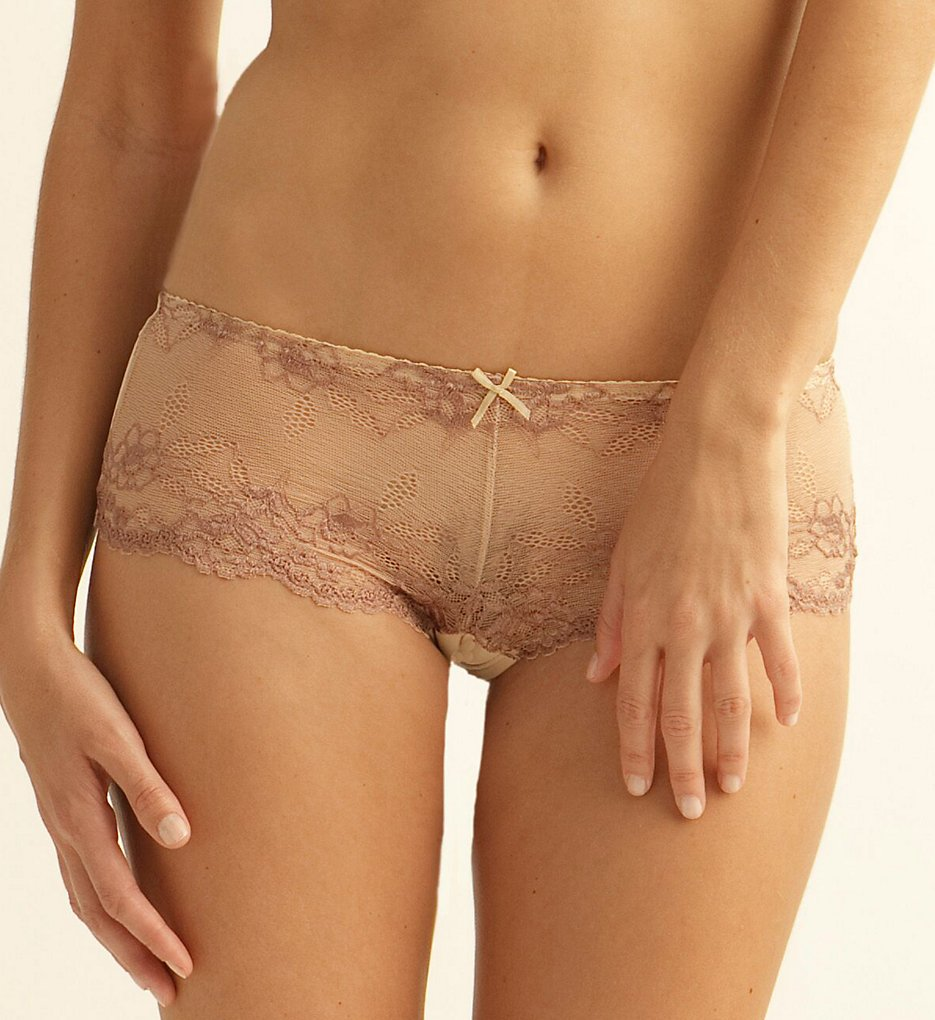 The Little Bra Company >> The Little Bra Company P001 Yvonne Petite Boyshort Panty (Nude/Mocha S)