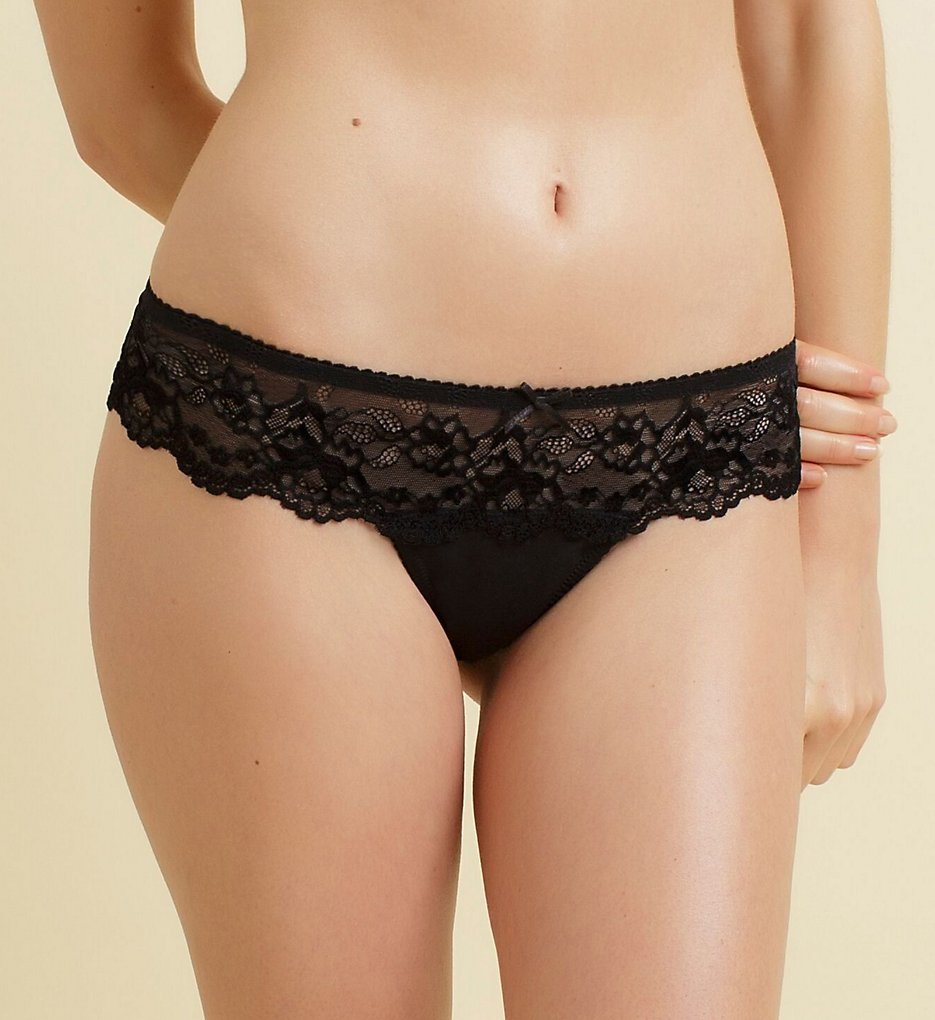 The Little Bra Company - The Little Bra Company P001T Yvone Petite Lace Thong (Black M)