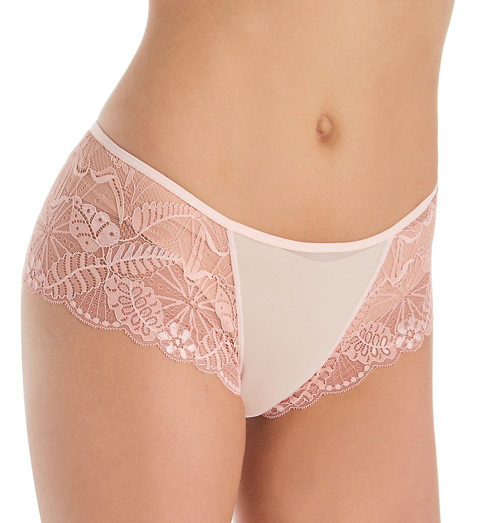 The Little Bra Company - The Little Bra Company PY002 Cecilia Petite Lace Boyshort Panty (Rosette/Peach XS)