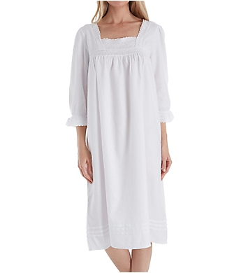 Thea Amarante Fine Brushed Cotton Flannel Gown