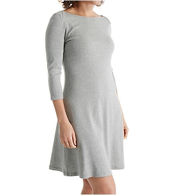Three Dots Cotton Trista 3/4 Sleeve British Dress