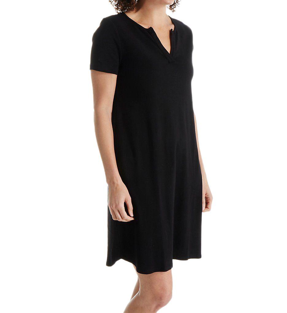Three Dots Cotton Cheryl Short Sleeve Dress