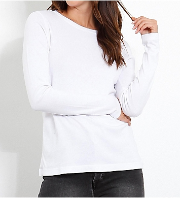 Three Dots EZ Fit Long Sleeve Crew Neck Tee