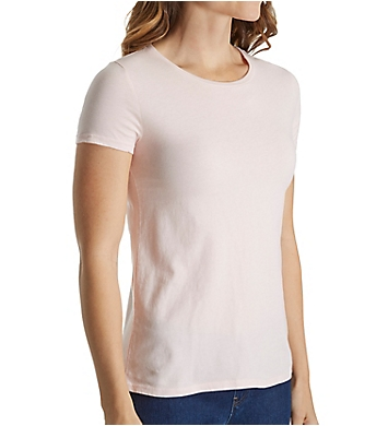 Three Dots Sanded Jersey Cotton Short Sleeve Crew Neck Tee