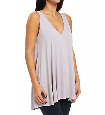 Three Dots A-Line Sweep Tank with Keyhole Detail Tee