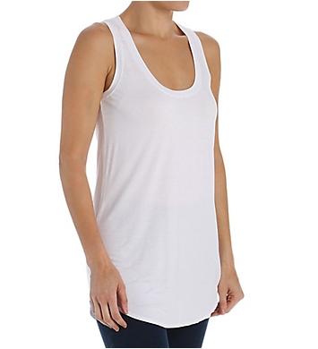 Three Dots Light Weight Viscose Shirt Tail Long Tank