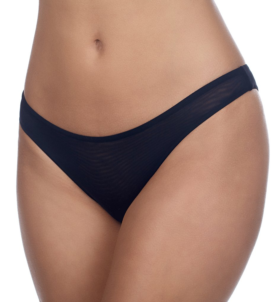 Timpa >> Timpa 615800 Mesh Low Cut Thong (Black S)