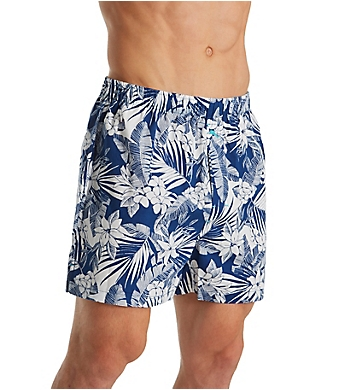 Tommy Bahama Big Man Floral Leaves 100% Cotton Woven Boxer