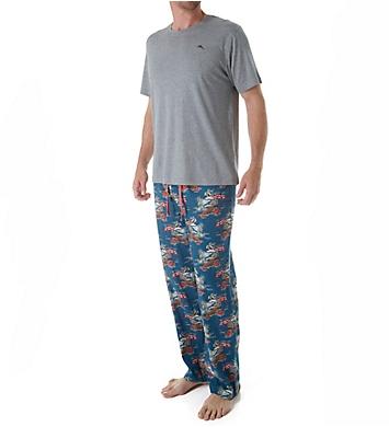 Tommy Bahama Tall Man Seaside Santa Beach Loungewear Set
