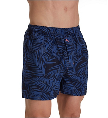 Tommy Bahama Big Man Midnight Leaves Cotton Woven Boxer
