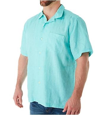 Tommy Bahama Sea Glass Breezer Short Sleeve Linen Shirt
