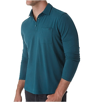 Tommy Bahama Tropical Sueded Sands Long Sleeve Polo