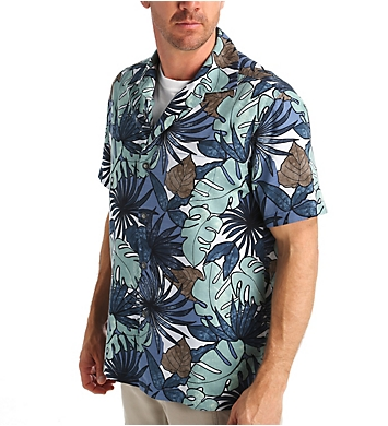 Tommy Bahama Remy Retro Silk Cotton Button Down Shirt