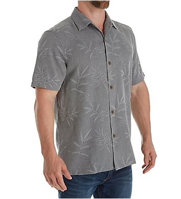 Tommy Bahama Luau Stamped Floral Silk Original Fit Camp Shirt