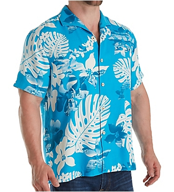 Tommy Bahama Aloha Fronds Silk Button Down Shirt