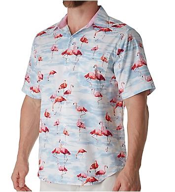 Tommy Bahama Delano Flamingo Silk Camp Shirt