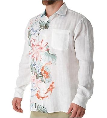 Tommy Bahama Koi West Linen Long Sleeve Camp Shirt