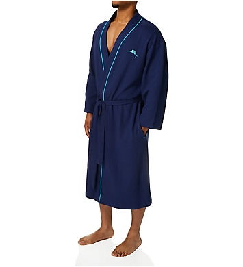 Tommy Bahama Surfer Sold Knit Waffle Robe