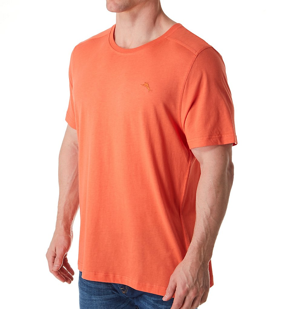 tommy bahama tb61700 cotton modal jersey t-shirt (coral berry m)